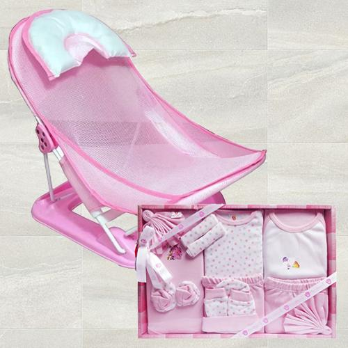Outstanding Baby Bather n Cotton Clothes for Baby Girl