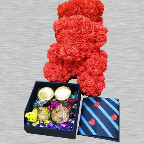 Card, Cookies, Teddy N Chocos Combo