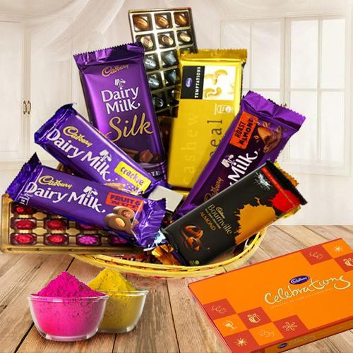 Delightful Gift Hamper Basket with Various Products