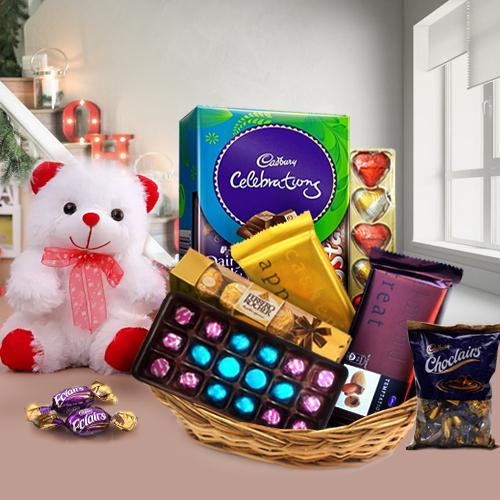 Elegant Chocolate Gift Basket