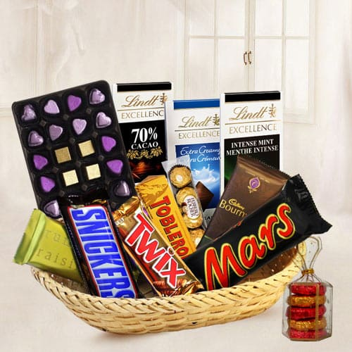Perfectly Arranged Chocolate Gift Basket