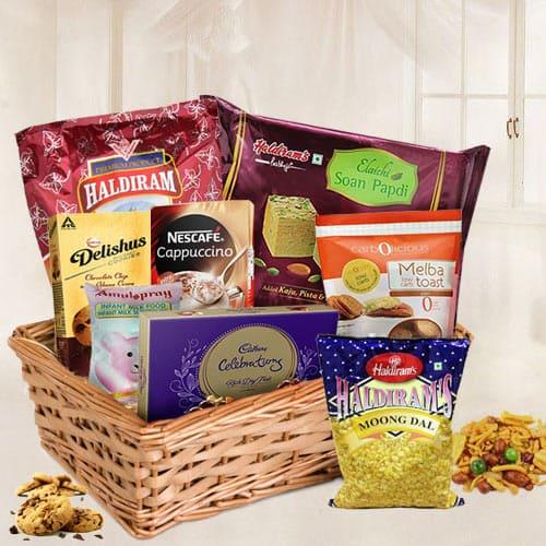 Marvelous Hamper Basket with Assorted Items