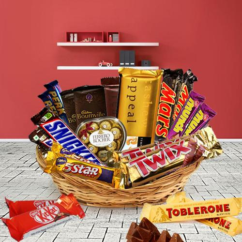 Yummy Basket of Assorted Chocolates
