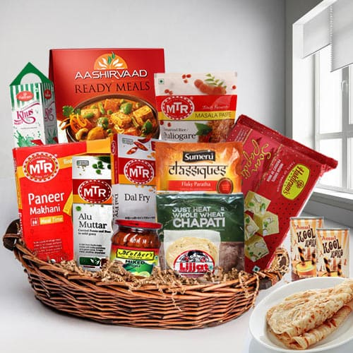 Delicious Combination of North Indian Recipes Lunch Gift Hamper