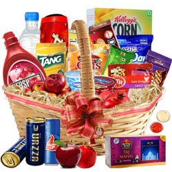 Exciting Sunday Special Breakfast Gift Hamper with free Roli Tilak and Chawal