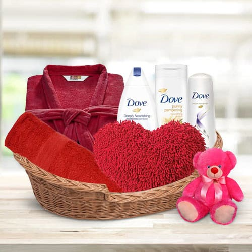 Attractive Beauty Care Gift Basket for Her