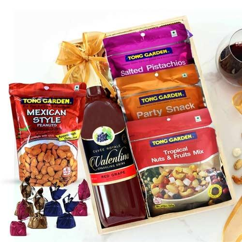 Tasty Mixed Dry Fruits N Grape Drink Gift Hamper