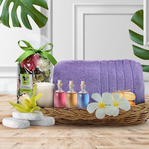 Mesmerizing Aroma Anniversary Gifts Basket