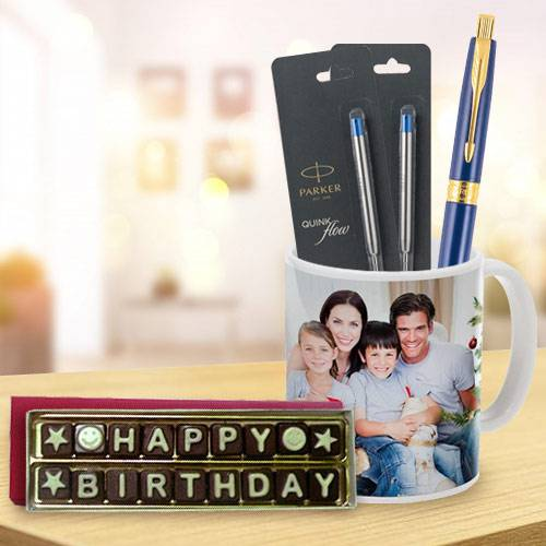 Marvelous Parker Pen with Coffee Mug and Handmade Chocolate