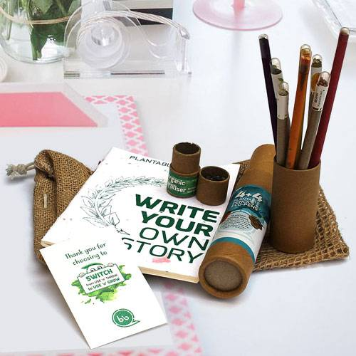 Fantastic Plantable Stationery Gift Jute Kit