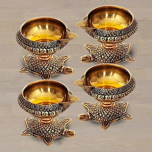 Wonderful Brass Diya Set
