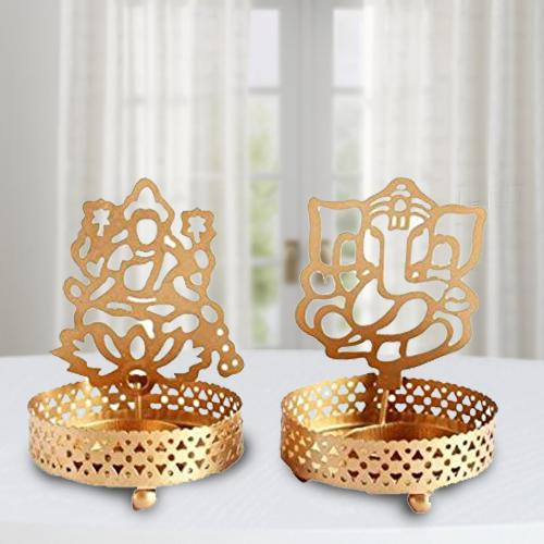 Amazing Ganpati ji and Laxmiji Tealight Candle Holder
