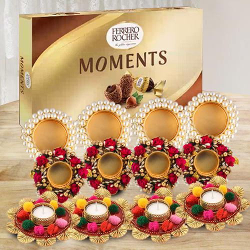 Amazing Diya Set with Ferrero Rocher