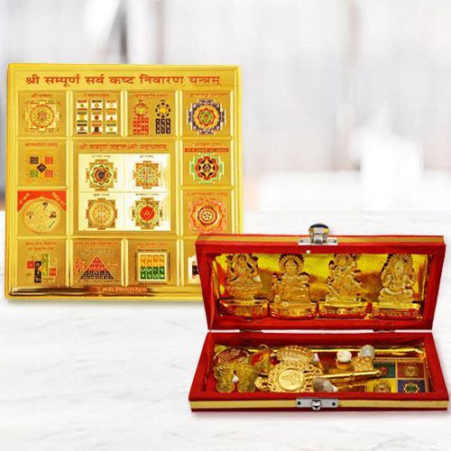 Divine Sarva Kashta Nivaran N Shri Dhan Laxmi Kuber Bhandhari Yantra
