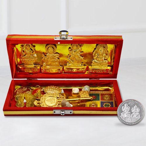 Exclusive Shri Dhan Laxmi N Kuber Bhandari Yantra with Free Coin