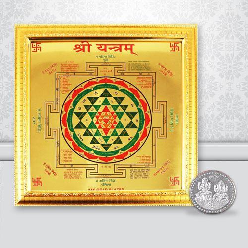 Divine Shree Yantra N Free Coin
