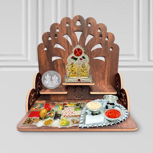 Exclusive Combo of Wooden Temple N Pooja Items