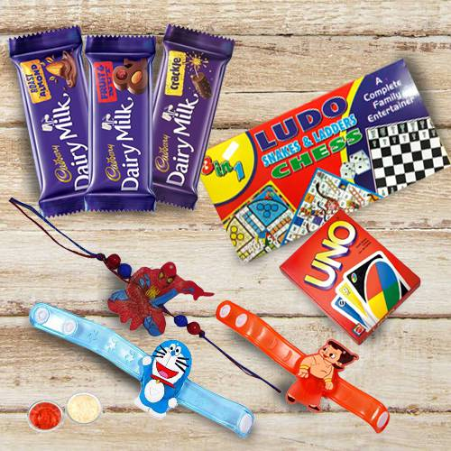 Remarkable Kids Rakhi with Toys n Chocolates