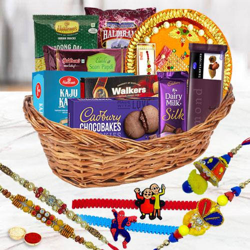 Rakhi Celebration Gifts Basket for Family