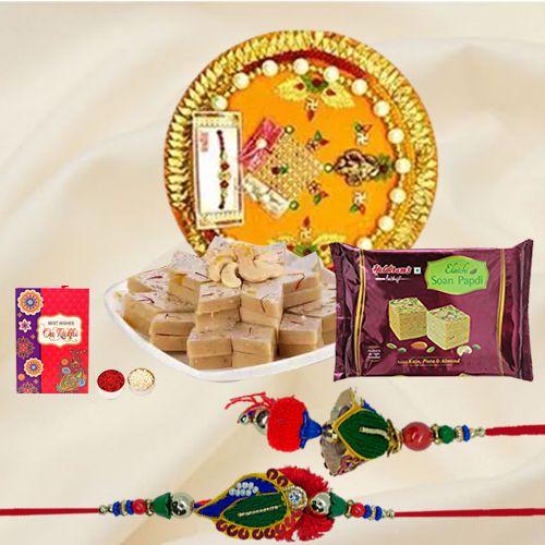 Remarkable Bhaiya Bhabhi Rakhi with Assortments Combo