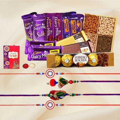 Delightful  Chocolates Rakhi Gift for Family
