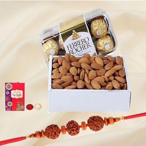Ethnic Family Rakhi Set with Sweets n Haldiram Snacks
