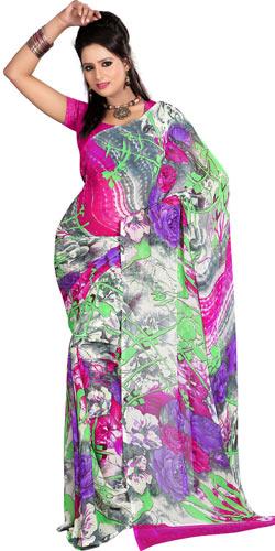 Designer Georgette Printed Saree with Amazing Allure