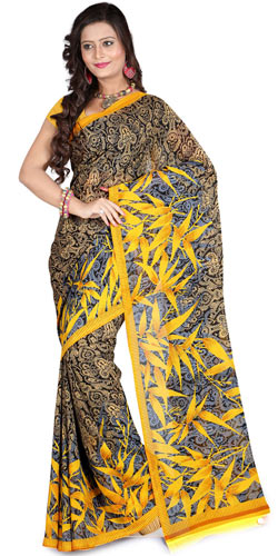Decorous Dapperness Faux Georgette Saree