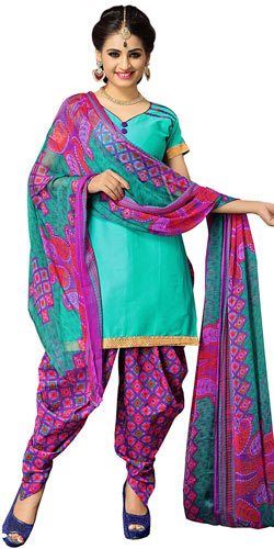 Sizzling Suredael Printed Cotton Women Suit in Multicolour