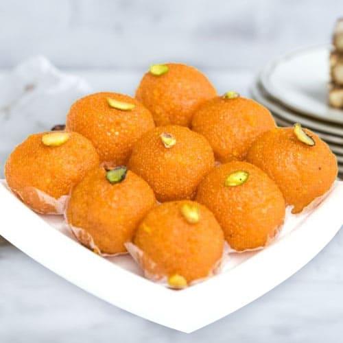 Tasty Haldirams Motichur Ladoo