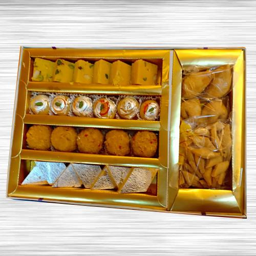 Delightful Assorted Sweets n Savory Combo Gift