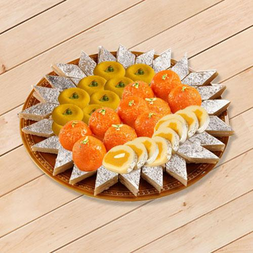 Yummy Sweets Platter 1kg from Bhikaram