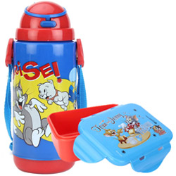 Impressive School Time Tom and Jerry Tiffin Set