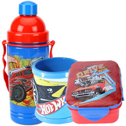 Astonishing Lunch Break Hot Wheels Pattern Tiffin Set