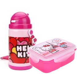 Attractive Lunch Break Hello Kitty Pattern Tiffin Set