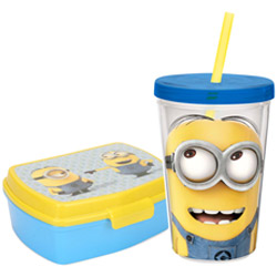 Classy School Time Minions Tiffin Set