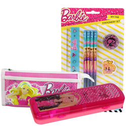 Beautiful Barbie Pattern Stationery Set for Lovely Kids