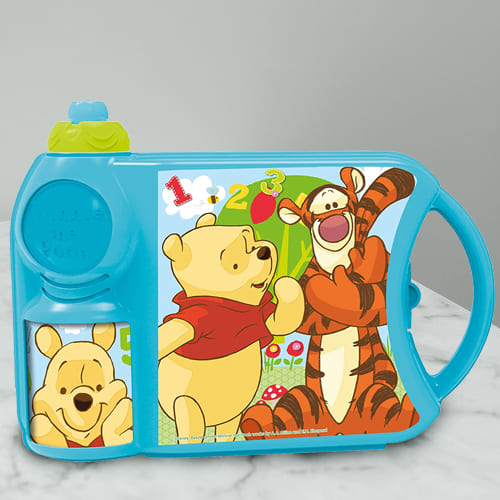 Striking Disney Winnie the Pooh Canteen Set of Tiffin Box n Bottle