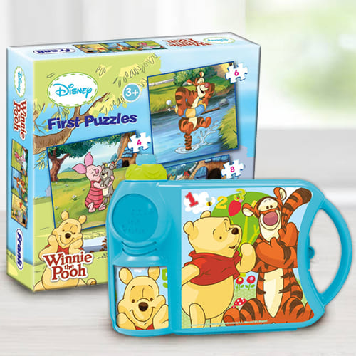 Alluring Disney Winnie the Pooh Toy N Tiffin Combo