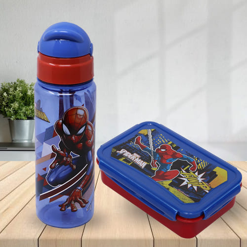 Lovely Marvel Spiderman Tiffin N Sipper Bottle Set