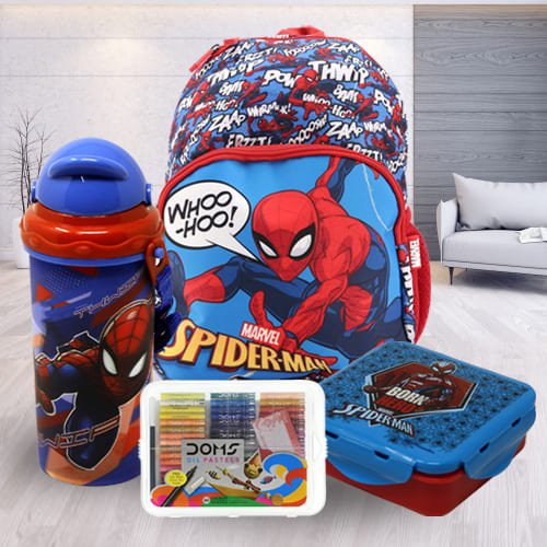 Delightful Spiderman School Utility Combo