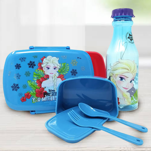 Stunning Disney Frozen Lunch Box n Water Bottle Set
