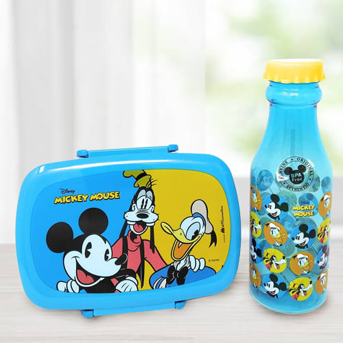 Impressive Mickey Mouse Lunch Box n Water Bottle Set