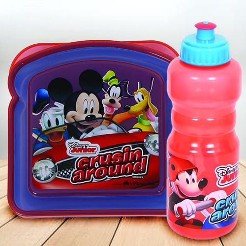 Amazing Disney Mickey Mouse Sipper Bottle n Lunch Box