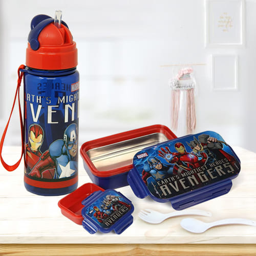Stunning Marvel Lunch Box n Sipper Bottle Combo