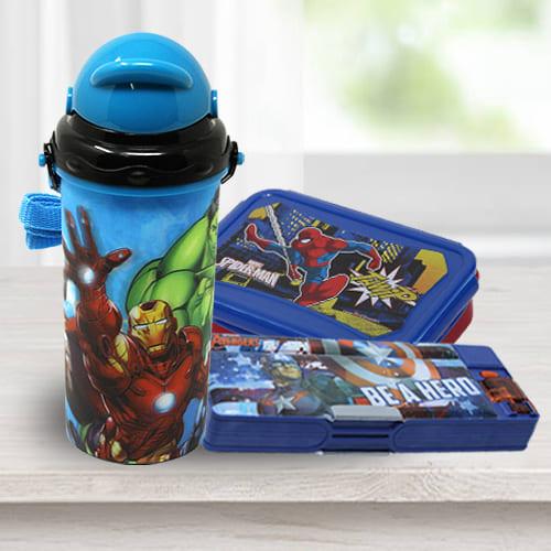 Impressive Avengers School Utility Gift Combo for Kids