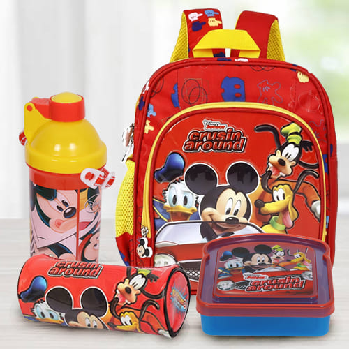 Striking Mickey Mouse School Utility Gift Combo for Kids