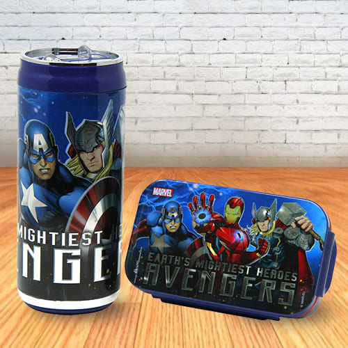 Exclusive Disney and Marvel Lunch Box and Sipper Bottle