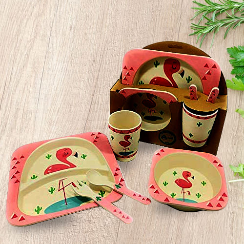 Alluring Bamboo Fiber Eco-Friendly Kids Feeding Set