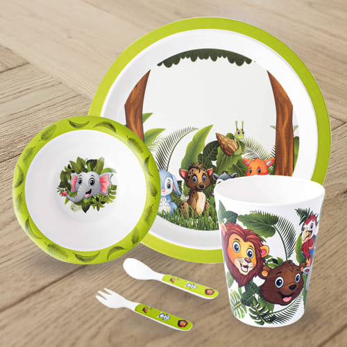 Outstanding Jungle Book Design Melamine Kids Set